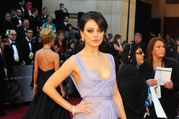 Mila Kunis Oscar Dress: Lilac, Lingerie, Lace