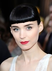 Rooney Mara attended the 84th Annual Academy Awards wearing a muted matte red lipstick.