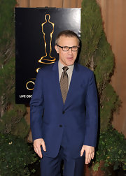 Only Christoph Waltz could pull off a bright navy suit on the red carpet!