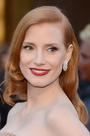 Siren red lips made just the perfect finishing touch to Jessica Chastain's award-winning Oscars look.
