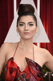 Blanca Blanco rocked a nest-like top knot at the Oscars.