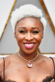 Cynthia Erivo attended the 2017 Oscars wearing Einstein-inspired curls.