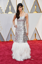 Sofia Boutella was impossible to miss in this sequined and feathered confection by Chanel Couture at the 2017 Oscars.