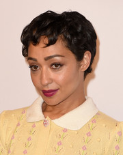 Ruth Negga attended the Academy Awards nominees luncheon wearing her signature Betty Boop pixie.