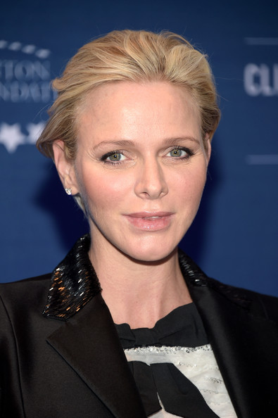 Charlene Wittstock kept it casual with this short, brushed-back hairstyle at the 2014 Clinton Global Citizen Awards.