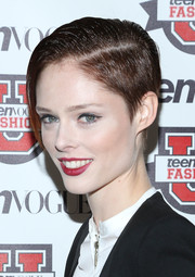 Coco Rocha took a risk with this super-short gelled hairstyle at the Teen Vogue University.