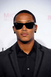Romeo Miller paired his sleek blazer with cool wayfarer shades.