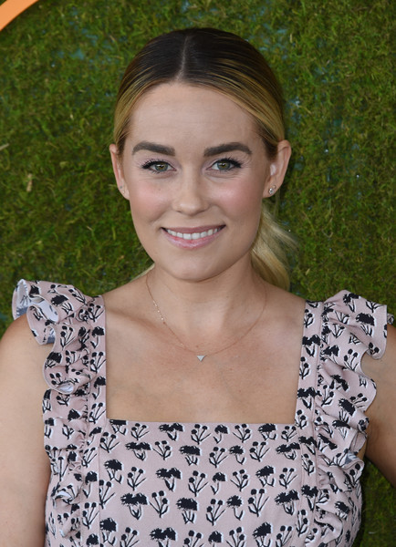 Lauren Conrad pulled her hair back into a casual ponytail for the Veuve Clicquot Polo Classic.
