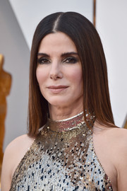 Sandra Bullock sported a pin-straight 'do at the 2018 Oscars.