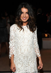 Shenae Grimes showed off her shoulder length curls while hitting the InStyle party.
