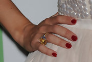Kelly Brooke showed off her gold cocktail ring while hitting the InStyle party.