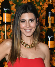 Jamie-Lynn Sigler wore her hair in a straight ombre style at the Veuve Clicquot Polo Classic Los Angeles.