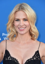 January Jones was sweetly coiffed with shoulder-length waves at the Concert for Our Oceans.