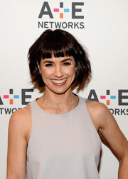 Constance Zimmer had a fun and effortless look with her shorty messy cut and bangs.