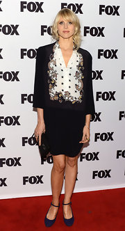 Lucy Punch paired classic Mary Janes with her skirt suit at the Salute to Fox Comedy event.