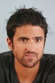 Janko Tipsarevic showed up with a spiked messy hairdo at the AAMI Classic press conference.