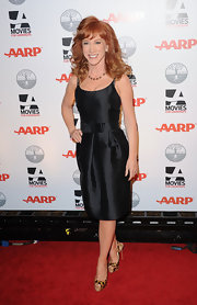 Kathy Griffin wore a crisp black bowed belt to the AARP gala.
