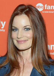 Laura Leighton wore her glossy auburn locks in long layers at the ABC Family West Coast Upfronts party.