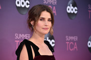 Cobie Smulders looked romantic with her loose updo while attending ABC's TCA Summer Press Tour.