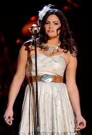 Angaleena Presley added a touch of color with this gemstone, silver, and leather belt.