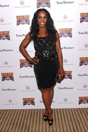 June Ambrose wore a fitted embellished dress to ADCOLOR Live! in NYC.