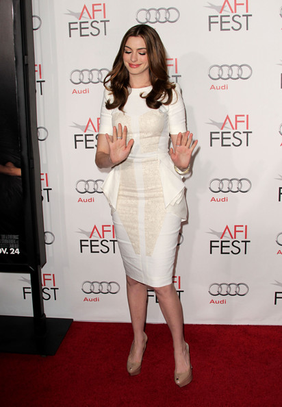 More Pics of Anne Hathaway Long Center Part (3 of 15) - Anne Hathaway Lookbook - StyleBistro