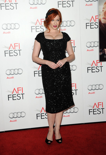 More Pics of Christina Hendricks Headband (1 of 52) - Christina Hendricks Lookbook - StyleBistro