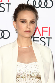 Natalie Portman looked elegant even with this mildly messy updo at the AFI Fest screening of 'Jackie.'