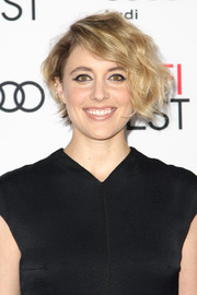 Greta Gerwig rocked messy waves at the AFI Fest screening of 'Jackie.'