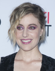 Greta Gerwig was rocker-chic with her messy, half-pinned waves at the AFI Fest tribute to Annette Bening.