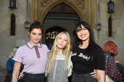 Daisy Lowe sported a cute black T-shirt at the ALEXACHUNG London launch party.