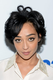 Ruth Negga looked cute with her tousled short 'do at the 'Preacher' 92st Y Talk.