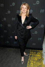 Arianna Huffington kept it classy at AOL's Digital Content Event where she wore a crisp black suit.