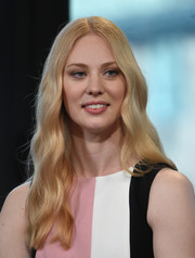 Deborah Ann Woll sported hippie-chic center-parted waves at the AOL Build Speaker Series.