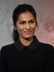 Elodie Yung kept it casual with this messy ponytail at the AOL Build Speaker Series.