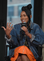 That was a lovely shade of blue Keke Palmer chose for her nails!