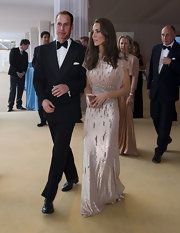 Prince William looked dapper in a tuxedo at the ARK 10th Anniversary Gala Dinner in London.