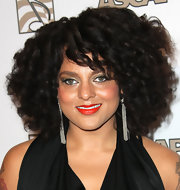 Marsha Ambrosius wore her hair in tight curls at the ASCAP Rhythm and Soul Music Awards.