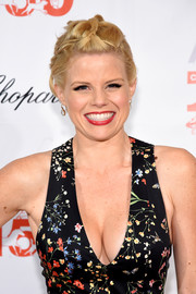 Megan Hilty attended the Bergh Ball wearing this funky braided updo.