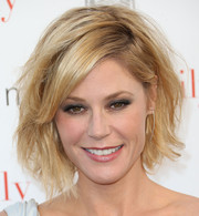 Julie Bowen was rocker-chic with this messy bob at the ATAS screening of the 'Modern Family' season finale.