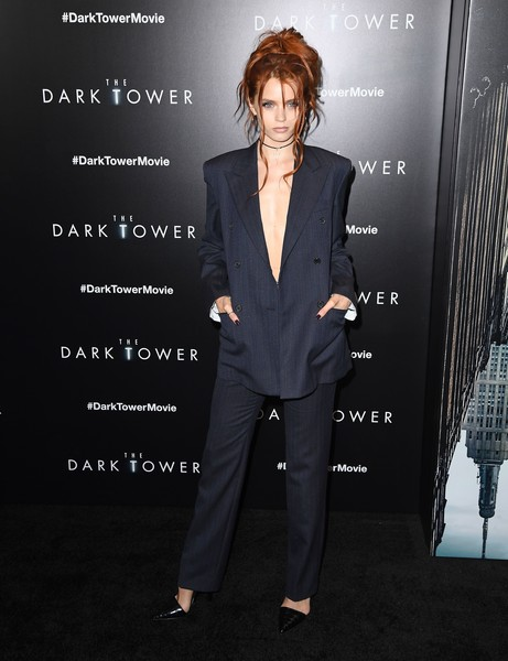 Abbey Lee Pumps [the dark tower,photo,suit,pantsuit,formal wear,tuxedo,white-collar worker,premiere,photography,blazer,style,arrivals,abbey lee,angela weiss,screening,new york,columbia pictures,mrc,museum of modern art]