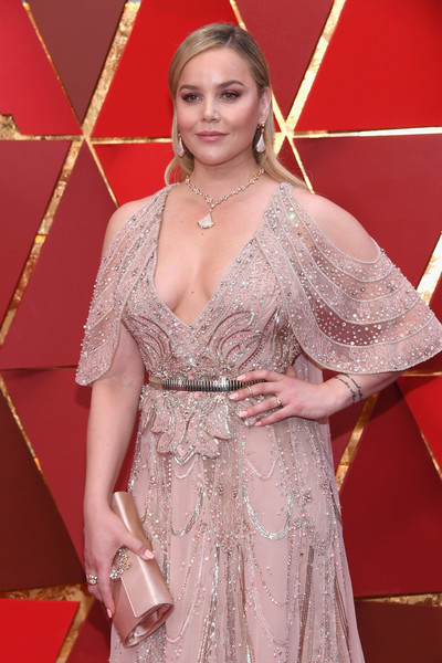 Abbie Cornish Satin Clutch [red carpet,carpet,clothing,flooring,dress,shoulder,premiere,lady,hairstyle,fashion,arrivals,abbie cornish,academy awards,hollywood highland center,california,90th annual academy awards]