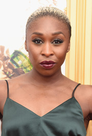 Cynthia Erivo attended the New York premiere of 'Absolutely Fabulous: The Movie' wearing her hair in a buzzcut.