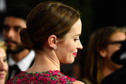Emily Blunt swept her hair back into a classic bun for the Governors Awards.