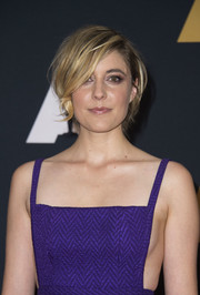 Greta Gerwig attended the Governors Awards wearing her hair in a messy bob.