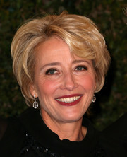 Emma Thompson styled her short hair with subtle waves for the Governors Awards.