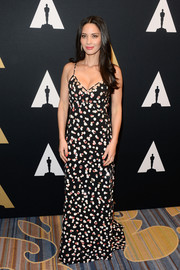 Olivia Munn slipped into this Altuzarra spaghetti-strap polka-dot gown for the Academy of Motion Picture Arts and Sciences' Scientific and Technical Awards.