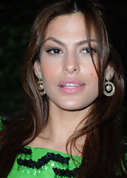 Eva Mendes wore stunning diamond hoop earrings to the Academy of Motion Picture Arts and Sciences Tribute.
