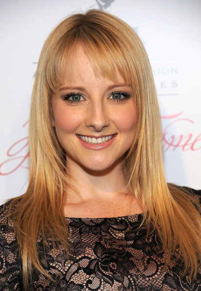 More Pics of Melissa Rauch Long Straight Cut with Bangs (1 of 3) - Melissa Rauch Lookbook - StyleBistro