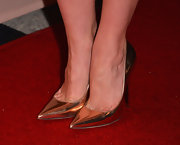Christa B. Allen's metallic pumps gave her red carpet look a bit of a modern edge.